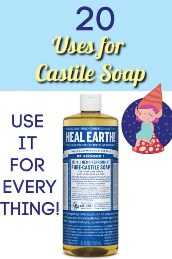 uses for castile soap graphic