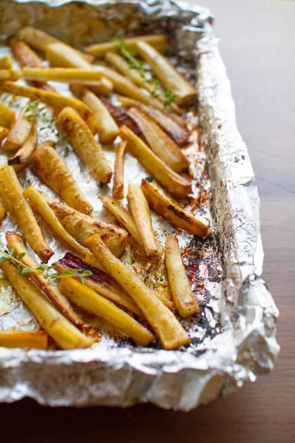 Cider-Roasted Parsnips in a Sheet Pan