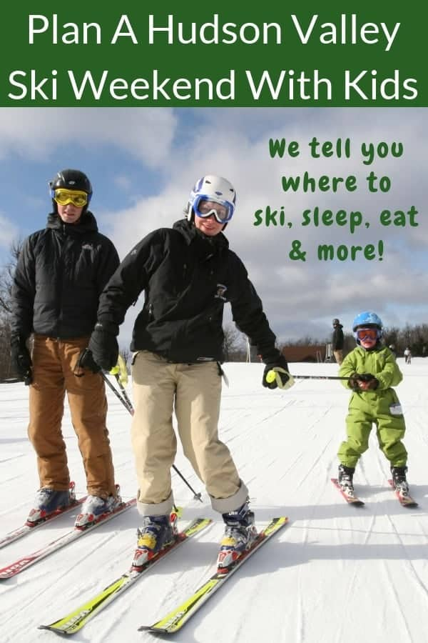 Skiing in the catskill mountains is an easy winter weekend getaway for families from nyc. Here is where to stay, where to ski and other things to do on a 2-night stay. #skiing #family #weekend #winter #newyork