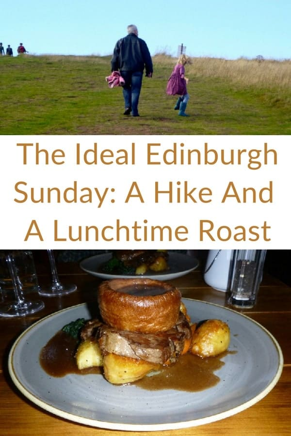 The ideal family sunday in edinburgh starts with a climb up to arthur's seat (or almost to the top) and ends with a sunday roast and treacle tart. #edinburgh #kids #sundayroast #vacation #arthurs #seat