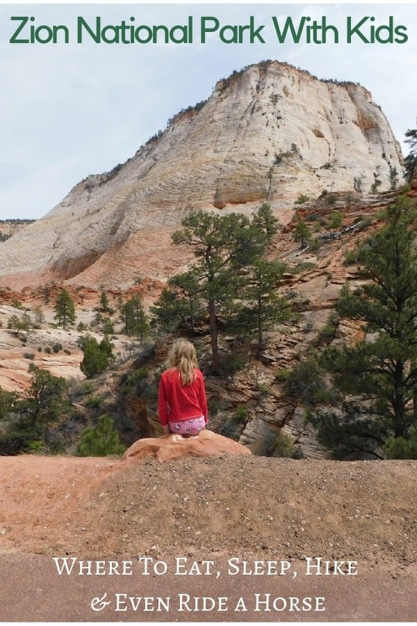 Zion National Park is an easy park to visit with kids. Here is all you need to know to plan a great family trip here. #zion #nationalpark #kids #family #vacation #guide #itinerary
