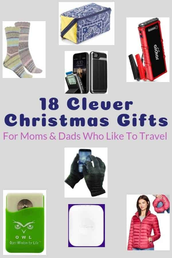 18 christmas gift ideas for moms, dads, husbands and wives who love to travel with their kids. Every item makes getting to or being on a family vacation easier and more enjoyable #christmas #gifts #mom #dad