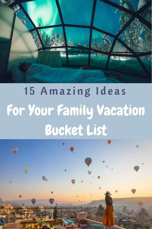 15 ideas for amazing international vacation destinations you really can visit with kids. Start planning and saving now to check one off your bucket list. #vacation #travel #ideas #inspiration #family #kids #bucketlist