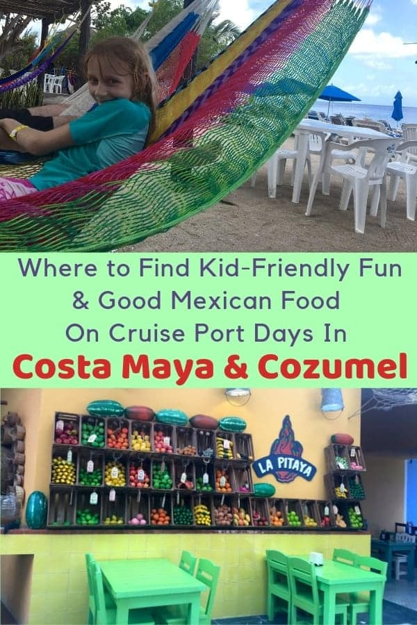 Cozumel and costa maya are two mexico ports in the western caribbean. Here is the lowdown on nearby beaches, good lunch spots, and things to do with kids on a one-day stop. #cozumel #costamaya #cruise #port #mexico #thingstodo #kids