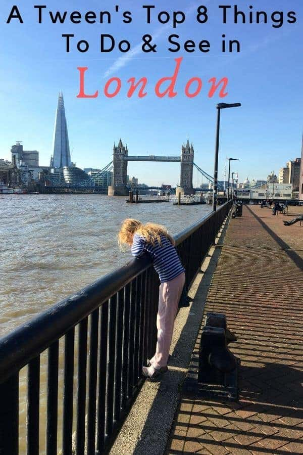 From afternoon tea to evening theater to markets and museums, here are 8 things tweens love to do in london, that parents like, too. #london #england #uk #museums #markets #thingstodo #activities #tweens #vacation