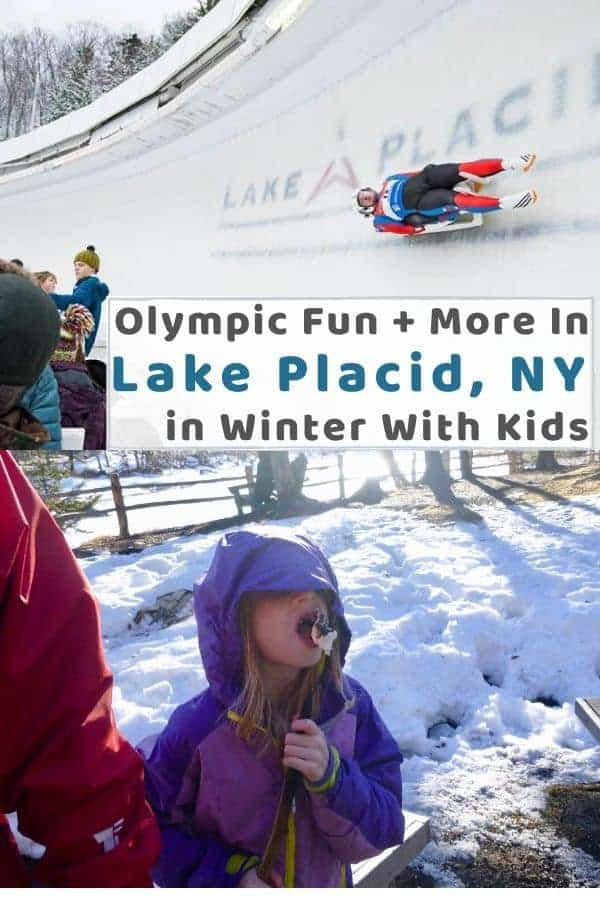 Lake placid new york has a lot to do on a winter vacation with kids from skiing to the olympic sites to fun on frozen mirror lake. Read more! #lakeplacid #ny #winter #vacation #kids #thingstodo #skiing #whiteface