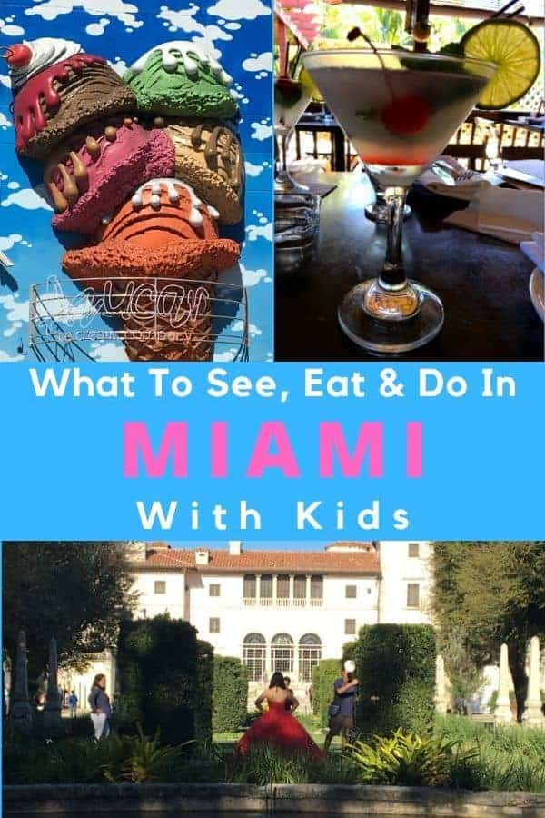 Here are 5 things to do in miami, florida with kids and tweens. They'll give you a good taste of this colorful beach city in a weekend. Perfect for a pre-cruise visit. #miami #florida #kids #beach #thingstodo #vacation #family #food #tours #wynwood #cruiseport