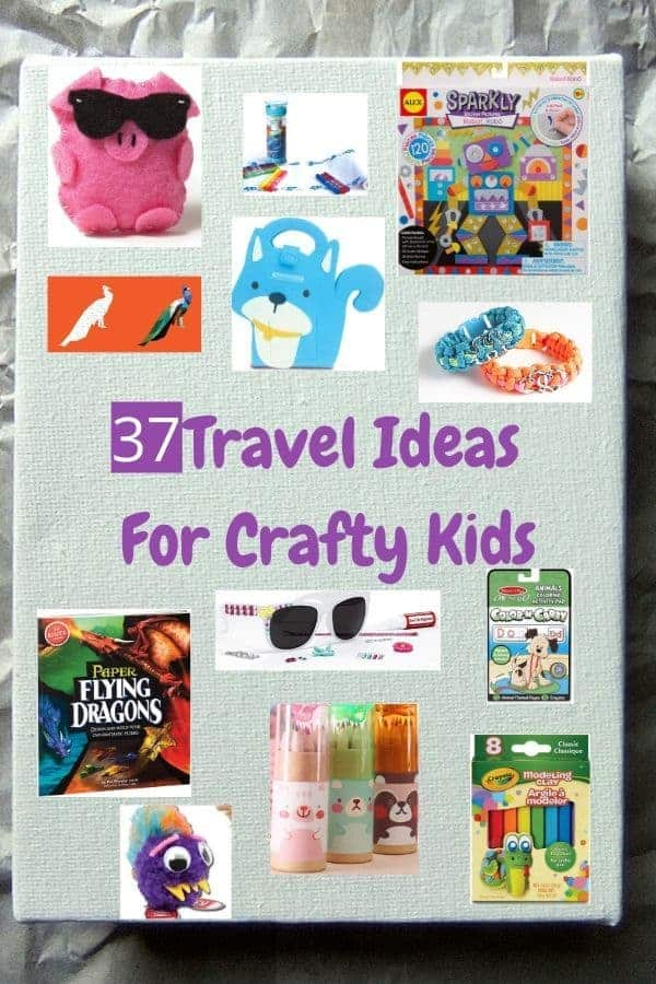 Art supplies and craft kits for toddlers, preschoolers and kits, ages 3-11. Take them on vacation, in cars, on airplanes to keep kids busy and happy. #kids #toddlers #art #crafts #diy #kits #travel #vacation #onthego