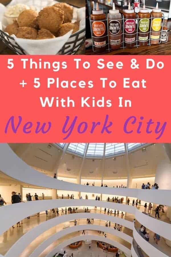 Here are 5 unique things to do with kids in new york city, plus 5 places to eat that you and they will both love. #kids #nyc #placestoeat #attractions #thingstodo #inspiration #ideas #vacation