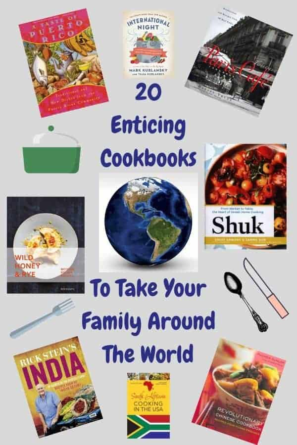 20 books that will help you and your kids learn about  countries all over the world through food and cooking. Great photos, easy to follow recipes. Delicious meals #food #cooking #culture #travel #inspriration #ideas #recipes #staycation #kids #teachkidstocook #dinnerideas