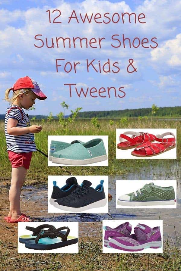 Summer sneakers, sandals and watershoes for preschoolers, kids and tweens. #sandals #waterschooes #sportsandals #sneakers #kids #tweens #summer #shopping