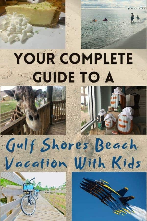 Thinking of gulf shores, alabama for a beach vacation with kids? Here are ideas for things to do, casual restaurants with great food and hotels and vacation rentals you'll love. #gulfcoast #gulfshores #orangebeach #alabama #blueangels #gulfcoastzoo #ideas #thingstodo #planning #restaurants #placestostay
