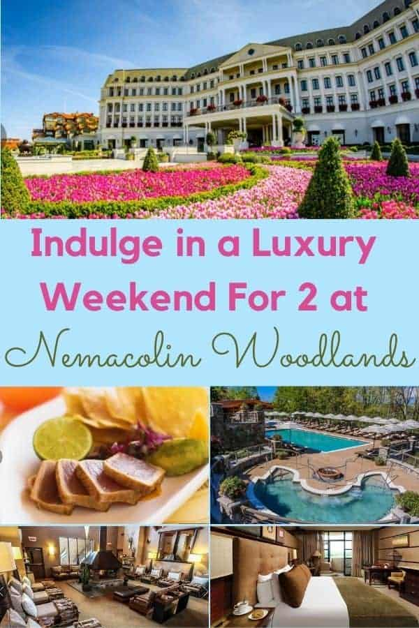 Nemacolin woodlands is a resort in southern pennsylania with 3 luxury hotels and lodged, golf, a spa, fine dining, adult pools: everything you need for a fun and relaxing romantic getaway weekend. #nemacolin #woodlands #pennsylvania #couple #romantic #weekendfor2 #golf #spa #dining #resort