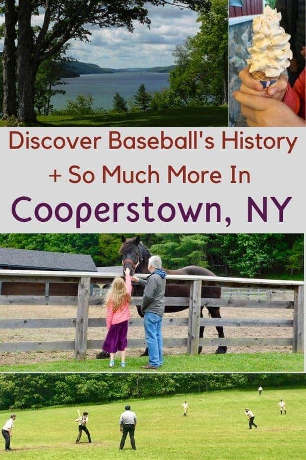 7 things to do with kids in cooperstown, even if you don't like baseball. Plus where to eat, and the best hotel in town for families. #cooperstown #ny #newyork #thingstodo #baseball #restaurants #hotels #kids #weekendgetaway #ideas