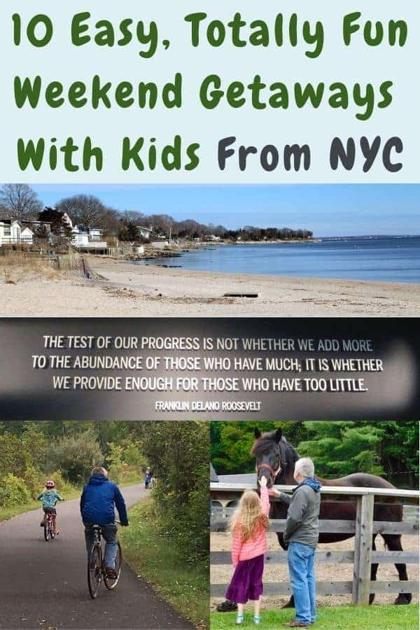 10 places to go to get out of new york city with kids. City, beach and mountains breaks within a few hours' drive. #weekend #getaway #family #kids #ideas #list #plan #nyc #eastcoast