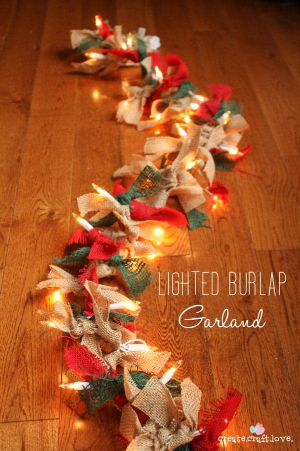 Light up burlap garland. The Best Christmas Table Setting Decorations | Holiday Home Decor