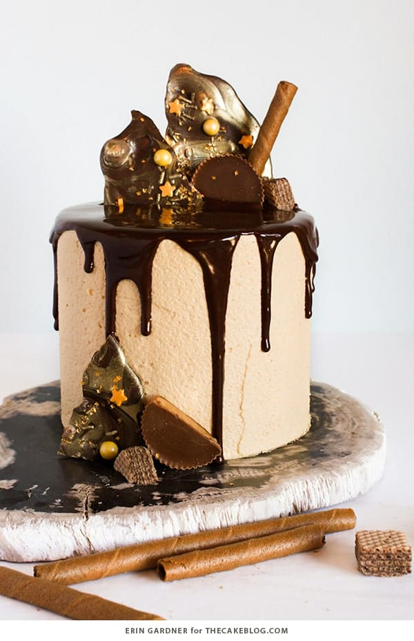 I absolutely LOVE this Chocolate peanut butter cake with chocolate ganache!