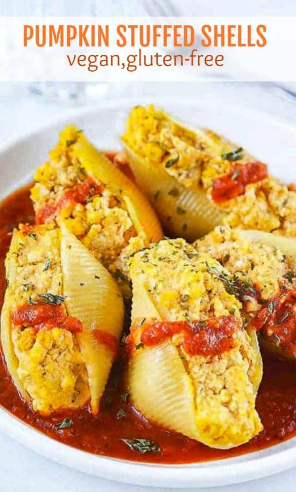 Pumpkin Stuffed Shells Vegan Gluten-Free