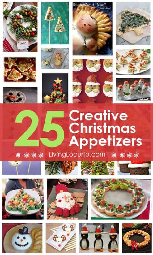 The BEST Christmas Appetizers for a holiday party. Savory fun food recipes that wow! Cute Santa, snowman, wreaths and Christmas tree appetizer ideas.