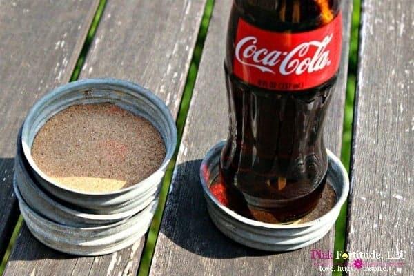 vintage zinc mason jar lid coaster