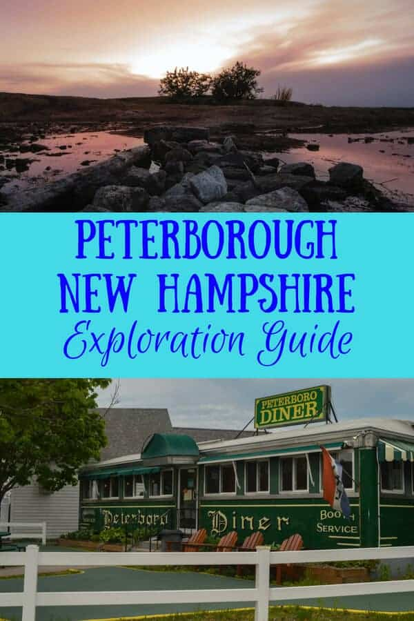 Two images - one of the Peterborough Diner, the other of Mt. Monadnock sunrise
