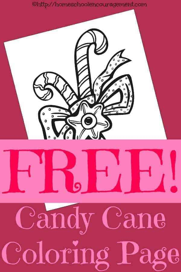 Free Candy Cane Coloring Page for The Legend of the Candy Cane or The Candy Maker's Gift plus Peppermint Playdough Recipe and More fun resources!