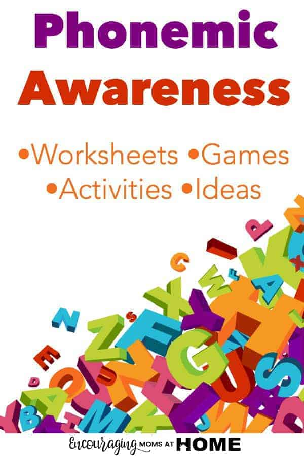 Sight word recognition and blending sounds are both part of phonemic awareness for your pre-schooler to learn to read.  To help improve their skills and make learning fun, we have put together a collection of FREE worksheets, games, activities, and more.  #homeschool #reading