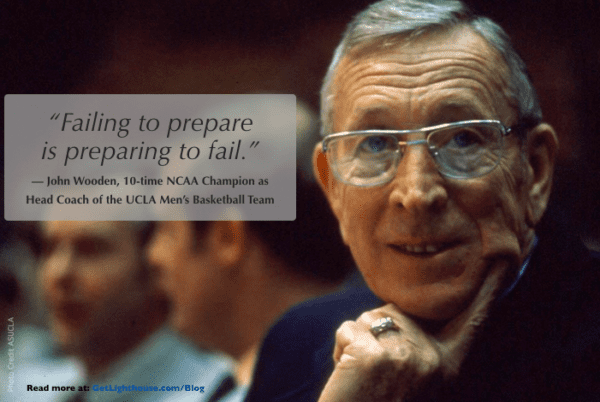 one on one meeting tips - be prepared like John Wooden