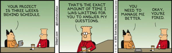 How to become a senior leader - Dilbert