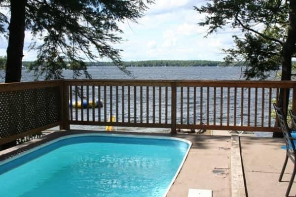 Irwin Inn, The Irwin Inn, Stoney Lake, Ontario Resort, Ontario Cottage Resort, Stoney Lake Resort, Cedarwood Cottage, Cedarwood Pool
