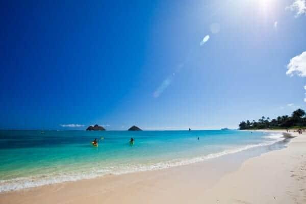 Lanikai Beach, Oahu, - Image courtesy Hawaii Tourism Authority/Tor Johnson, Family vacations on Oahu