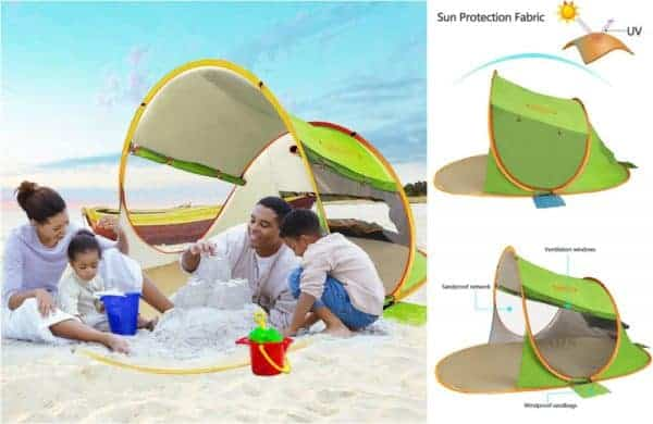 baby beach tent, portable sun shelter, infant beach tent