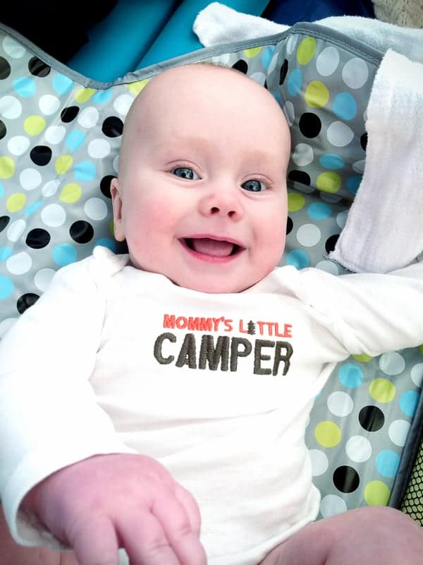 camping with baby, camping with a baby