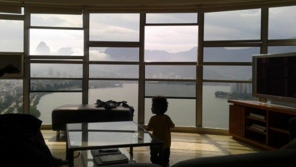 International Travel with Toddler, Rio Rental House