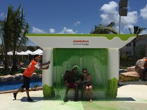 nickelodeon punta cana review, getting slimed at nickelodeon resort