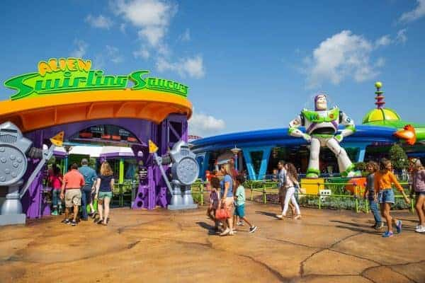 Alien Swirling Saucers ride for babies and toddlers at Disney's Hollywood Studios