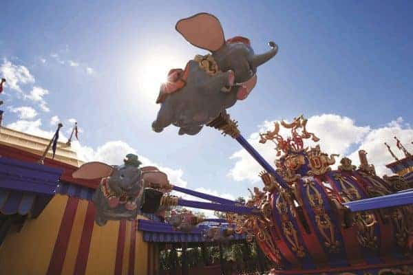 The classic Dumbo ride for babies and toddlers at Walt Disney World