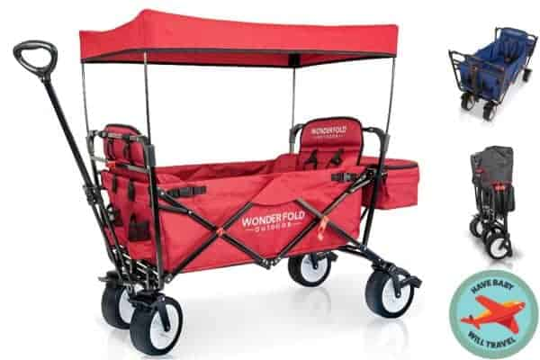 stroller alternative, stroller alternatives, folding wagon, light folding wagon, folding wagon for travel, travel wagon