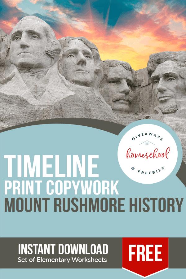 free Mount Rushmore Copywork homeschool curriculum