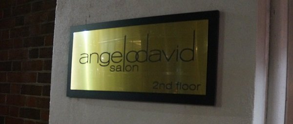 Angelo David Salon sign