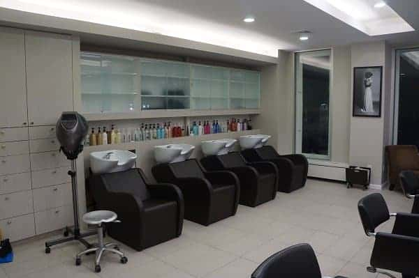 Angelo David Salon Shampoo Area
