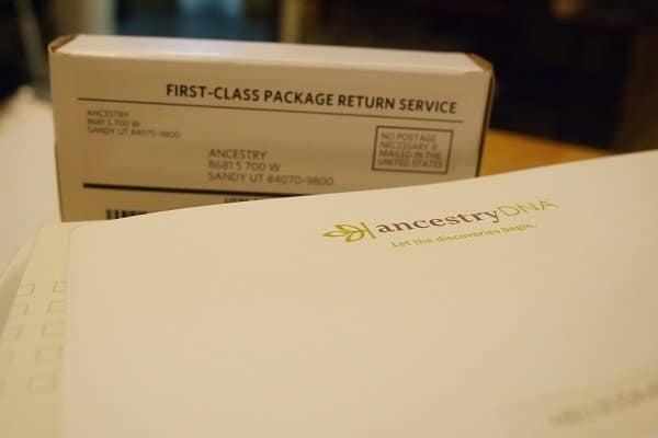 Ancestry DNA Kit Packaging