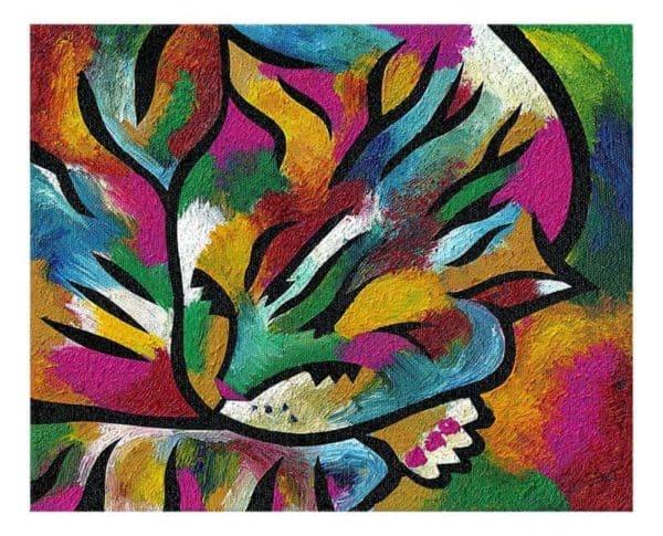 Cat pose painting