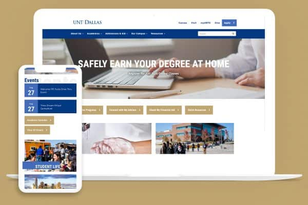 UNT Dallas website