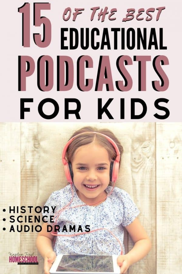 Supplement your homeschool with screenfree educational activities. Try one of these 15 of the best educational podcasts for kids.