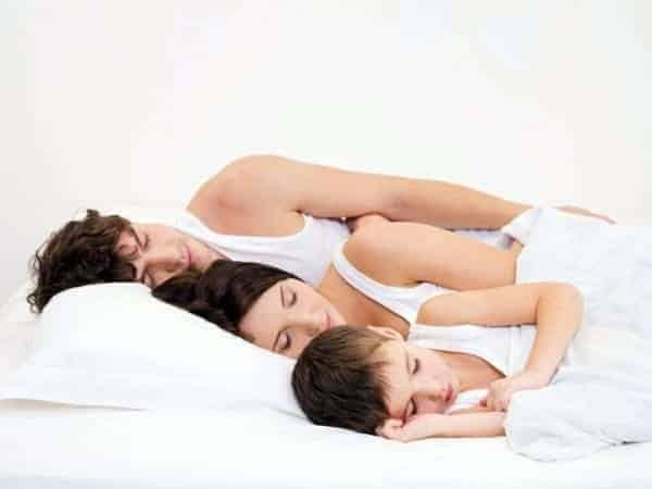 Family sleeping well and being healthy during the winter