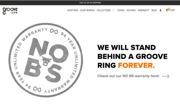 Example of risk reversal on an ecommerce landing page