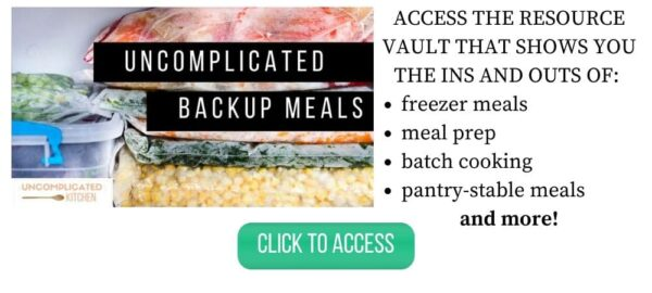 Uncomplicated Backup Meals