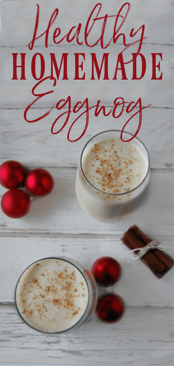 Healthy Homemade Eggnog