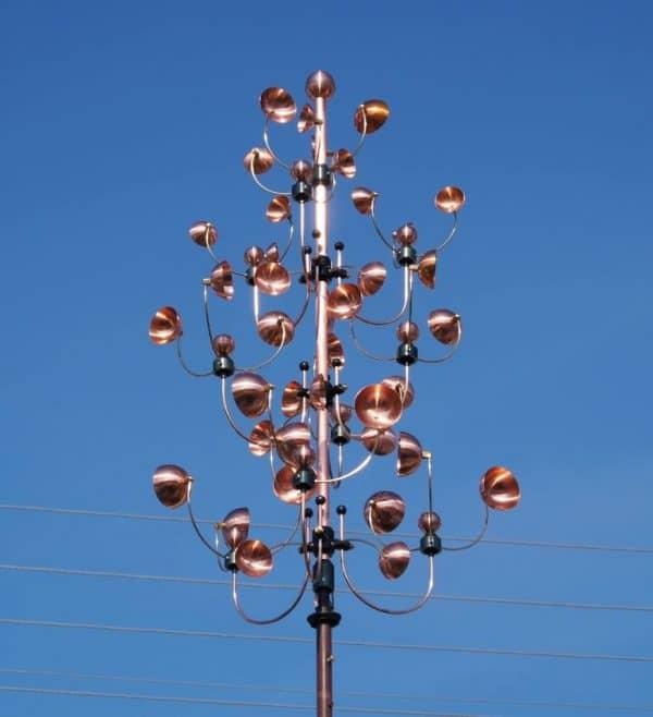 """Kinetic Wind Sculpture ""TREE of happiness"""" - Original Artwork by Vladimir Kolesnev"
